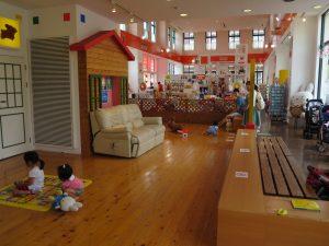 広ーいキッズスペースもあり、置いてあるおもちゃもカワイイ